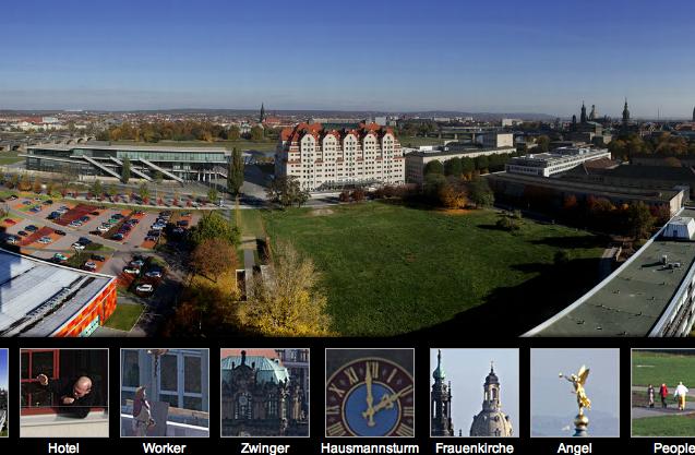 Сайт с панорамой Дрездена
