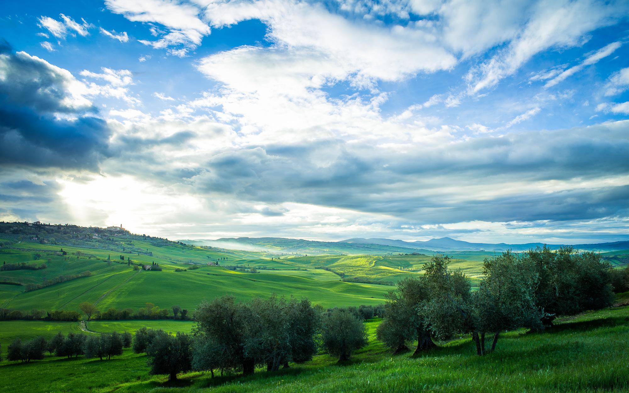 Рассвет в Тоскани